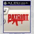 Patriot AR 15 Decal Sticker DW Red Vinyl 120x120