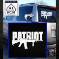 Patriot AR 15 Decal Sticker DW White Emblem 120x120