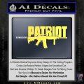 Patriot AR 15 Decal Sticker DW Yelllow Vinyl 120x120