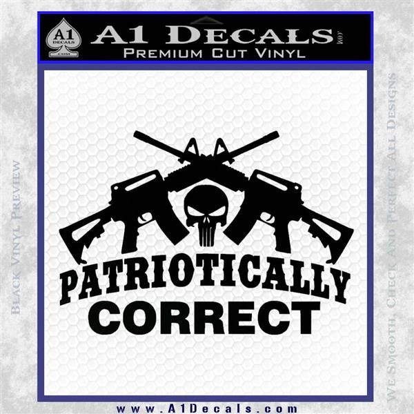 Patriotically Correct AR 15s Decal Sticker Black Logo Emblem