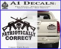 Patriotically Correct AR 15s Decal Sticker Carbon Fiber Black 120x97
