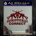 Patriotically Correct AR 15s Decal Sticker Dark Red Vinyl 120x120