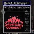 Patriotically Correct AR 15s Decal Sticker Pink Vinyl Emblem 120x120