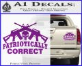Patriotically Correct AR 15s Decal Sticker Purple Vinyl 120x97
