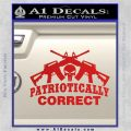 Patriotically Correct AR 15s Decal Sticker Red Vinyl 120x120