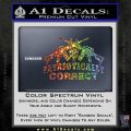 Patriotically Correct AR 15s Decal Sticker Sparkle Glitter Vinyl 120x120