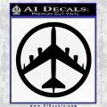 Peace Bomber B 52 Decal Sticker Black Logo Emblem 120x120