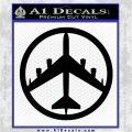 Peace Bomber B 52 Decal Sticker Black Logo Emblem 120x120
