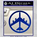 Peace Bomber B 52 Decal Sticker Blue Vinyl 120x120