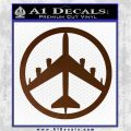 Peace Bomber B 52 Decal Sticker Brown Vinyl 120x120