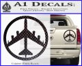 Peace Bomber B 52 Decal Sticker Carbon Fiber Black 120x97