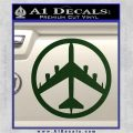 Peace Bomber B 52 Decal Sticker Dark Green Vinyl 120x120