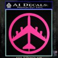 Peace Bomber B 52 Decal Sticker Hot Pink Vinyl 120x120