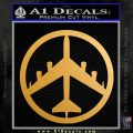 Peace Bomber B 52 Decal Sticker Metallic Gold Vinyl Vinyl 120x120