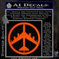 Peace Bomber B 52 Decal Sticker Orange Vinyl Emblem 120x120