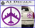 Peace Bomber B 52 Decal Sticker Purple Vinyl 120x97