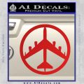 Peace Bomber B 52 Decal Sticker Red Vinyl 120x120