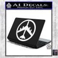Peace Bomber B 52 Decal Sticker White Vinyl Laptop 120x120