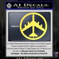 Peace Bomber B 52 Decal Sticker Yelllow Vinyl 120x120