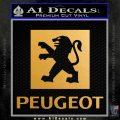 Peugeot Decal Sticker DP Metallic Gold Vinyl Vinyl 120x120