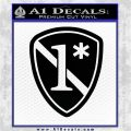 Police 1 Asterisk Ass To Risk Decal Sticker Black Logo Emblem 120x120