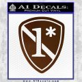 Police 1 Asterisk Ass To Risk Decal Sticker Brown Vinyl 120x120