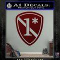 Police 1 Asterisk Ass To Risk Decal Sticker Dark Red Vinyl 120x120