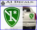 Police 1 Asterisk Ass To Risk Decal Sticker Green Vinyl 120x97