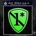 Police 1 Asterisk Ass To Risk Decal Sticker Lime Green Vinyl 120x120