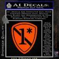 Police 1 Asterisk Ass To Risk Decal Sticker Orange Vinyl Emblem 120x120