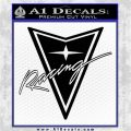 Pontiac Racing Decal Sticker DRT Black Logo Emblem 120x120