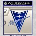 Pontiac Racing Decal Sticker DRT Blue Vinyl 120x120
