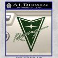 Pontiac Racing Decal Sticker DRT Dark Green Vinyl 120x120