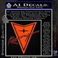 Pontiac Racing Decal Sticker DRT Orange Vinyl Emblem 120x120