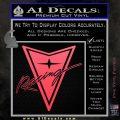 Pontiac Racing Decal Sticker DRT Pink Vinyl Emblem 120x120