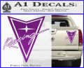 Pontiac Racing Decal Sticker DRT Purple Vinyl 120x97