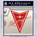 Pontiac Racing Decal Sticker DRT Red Vinyl 120x120