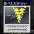 Pontiac Racing Decal Sticker DRT Yelllow Vinyl 120x120