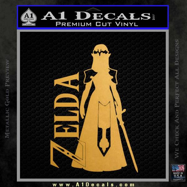 Princess Zelda Txt Decal Sticker Dza A1 Decals