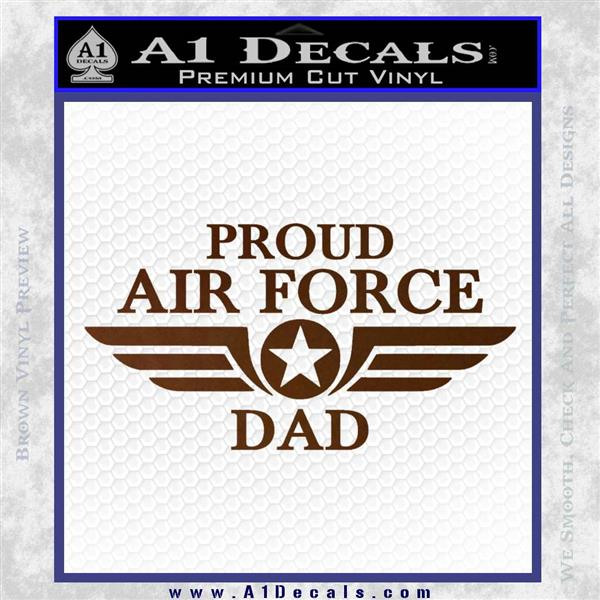 Proud Air Force Dad D1 Decal Sticker 187 A1 Decals