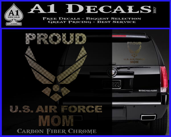 Proud Air Force Mom D2 Decal Sticker 187 A1 Decals