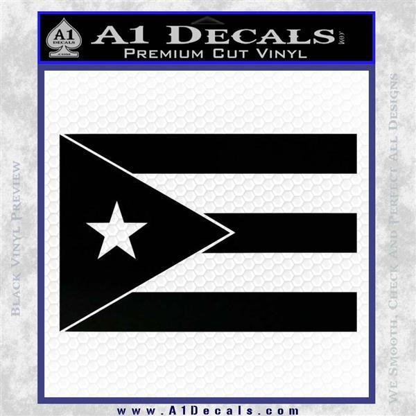 Puerto Rico Flag Vinyl Decal Sticker Black Logo Emblem