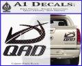 QAD Quality Archery Design Decal Sticker Carbon Fiber Black 120x97