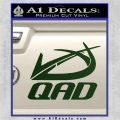 QAD Quality Archery Design Decal Sticker Dark Green Vinyl 120x120