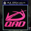 QAD Quality Archery Design Decal Sticker Hot Pink Vinyl 120x120