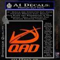QAD Quality Archery Design Decal Sticker Orange Vinyl Emblem 120x120