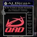 QAD Quality Archery Design Decal Sticker Pink Vinyl Emblem 120x120