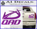 QAD Quality Archery Design Decal Sticker Purple Vinyl 120x97