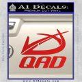 QAD Quality Archery Design Decal Sticker Red Vinyl 120x120