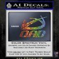 QAD Quality Archery Design Decal Sticker Sparkle Glitter Vinyl 120x120